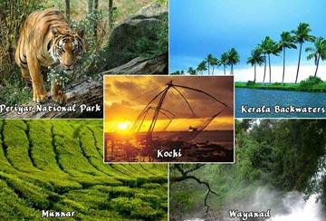 KERALA-Cochin, Munnar, Alleppey, Kovalam, Kanyakumari