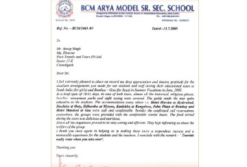 BCM Arya Model – 10 Years of Association