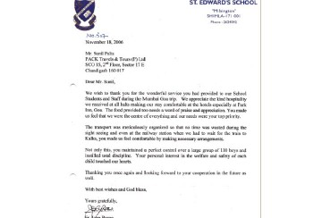 ST. EDWARD'S School  – 9 Years of Association