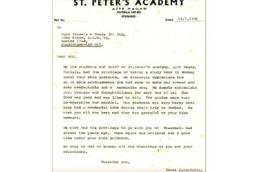 ST. Peter's Academy – 19 Years of Association