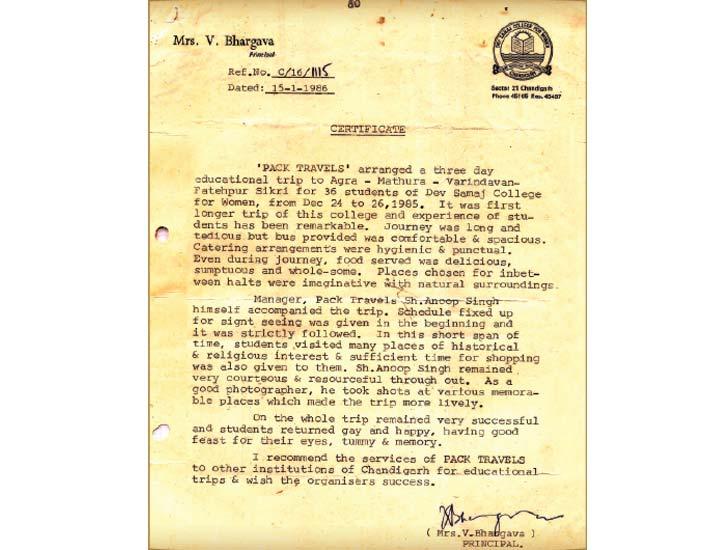 Dev Samaj – 29 Years of Association