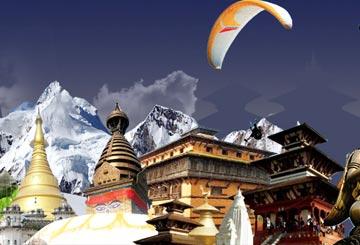 (Nepal) Kathmandu-Pokhara (Delhi-Kathmandu-Delhi by air/ rest by road)
